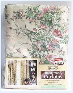 #Vintage woolworth 70s new old stock #floral #curtains retro pink flower ,  View more on the LINK: http://www.zeppy.io/product/gb/2/161844421811/