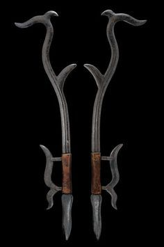 Pair of Hook Swords (Gou) • Dated: 19th century • Culture: Chinese • Medium…
