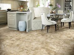 Resembling the high end design of a true Travertine. Crosscut's visual combines large rustic fill areas and mossy characteristics with high color and shading movement throughout each tile.