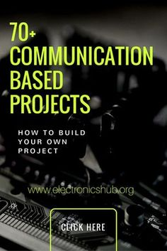 Best communication based projects for electrical and electronics engineering students. You can check project details, working process, circuit and code. Electronics Mini Projects, Computer Projects, Robotics Projects, Software Projects, Electronic Circuit Projects, Cnc Software, Electrical Projects, Engineering Projects, Electronic Engineering