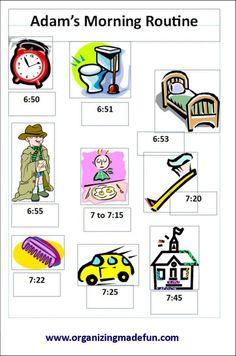 visual routine chart