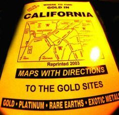 California gold prospecting book - gold nuggets -CA gold hunting