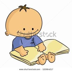 Image result for infant holding a book vector