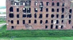 Como nunca nadie lo vio: Un dron muestra un edificio destrozado tras la Batalla de Stalingrado