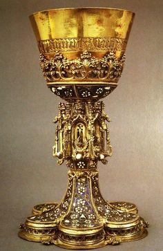 Chalice with filigree enamel Hungary, 1462 Metropolitan Museum of Art