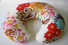 Multicolor floral nursing pillow cover--fits Boppy and other nursing pillows   #baby shower gift
