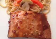 Teriyaki Baked Salmon - This Asian inspired salmon is easy and delicious.