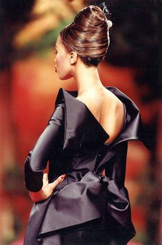 Up do at Christian Lacroix Haute Couture Fall-Winter 1991