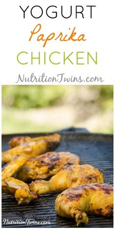 Yogurt Paprika Chicken   Only 58 Calories   Simple, Juicy, Not Your Boring Chicken   For MORE RECIPES, Nutrition & Fitness Tips, please SIGN UP for our FREE NEWSLETTER www.NutritionTwins.com