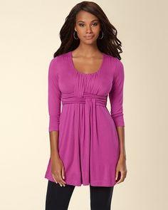Soma Intimates Soft Jersey Wrapped Waist Tunic Viola #somaintimates