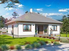 Projekt domu parterowego Tryton teriva o pow. 98,96 m2 z dachem namiotowym, z tarasem, sprawdź! Design Case, Gazebo, House Plans, Shed, Outdoor Structures, Outdoor Decor, Home Decor, Blueprints For Homes, Homemade Home Decor