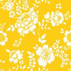 Wallpaper flower Yellow estahome.nl