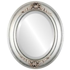 Winchester Framed Oval Mirror in Silver Leaf with Brown Antique - Silver/Brown (Large (over high) - Multicolor Oval Mirror, Beveled Mirror, Oval Frame, Wall Mounted Mirror, Framed Mirrors, Fake Plants Decor, Modern Decor, Antique Silver, Winchester