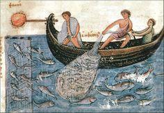 Fishermen of the Byzantine Empire, Codex Skylitzes Matritensis, National Library of Madrid, Vitr. 26-2.