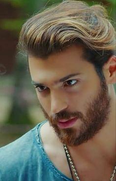Can Yaman te amoooooo! Mens Hairstyles With Beard, Hair And Beard Styles, Long Hair Styles, Just Beautiful Men, Beautiful Men Faces, Turkish Men, Turkish Actors, Moustaches, Long Hair Beard