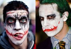 halloween makeup  ideas men jocker scary face
