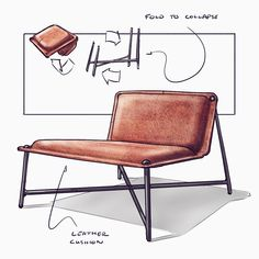 furniture sketch molded ply chair with a puzzle piece ottoman . sketched on an iPad Pro with Procreate . view all of . New Furniture, Furniture Makeover, Furniture Design, Furniture Sketches, Victorian Furniture, Bedroom Furniture, Wooden Chair Plans, Chair Design Wooden, Built In Bookcase