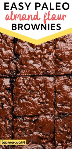 Almond Flour Brownies – Super Gooey! (paleo option) - Texanerin Baking Vegan Dessert Recipes, Diabetic Desserts, Healthy Desserts, Paleo Recipes, Best Diet For Pcos, Almond Flour Brownies, Gluten Free Blueberry Muffins, Healthy Slice, Dairy Free Cookies