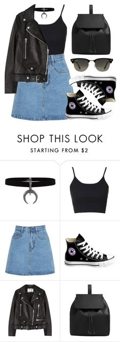 """Sin título #11953"" by vany-alvarado ❤ liked on Polyvore featuring Topshop, Converse, Acne Studios, MANGO and Ray-Ban"