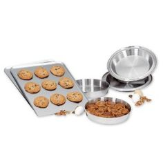 American Kitchen Bakeware Set - I also have this set & love it!  The cake & pie plates fit perfectly in my toaster oven.