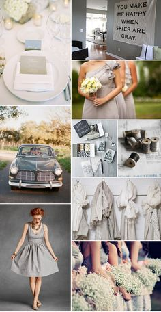 Is it wrong to have no color in your wedding? Just all shades of gray? I love the idea... very vintage, clean, classy. Janelle C. - thoughts?