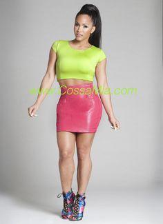 Yellow Leather Mini Skirt | Geebin (Fashion) | Pinterest | Leather ...