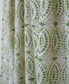 All Fabric All Fabric Alix Mordant Genealogy art alixgenealogy Patterns 038 ornaments block print fabric drapes by Tonic Living Green and unbleached nbsp hellip Fabric Decor, Fabric Design, Indian Block Print, Textiles, Green Rooms, Quites, Draped Fabric, Fabulous Fabrics, Green Fabric