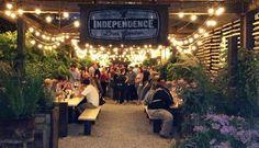 beer gardens at night - Buscar con Google
