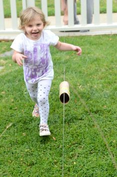 Faster than the speed of light.Make an awesome zip line for kids - great STEAM activity you can do with your whole family indoors or outdoors Gross Motor Activities, Steam Activities, Science Activities, Summer Activities, Preschool Activities, Preschool Science, Science For Kids, Games For Kids, Science Fun