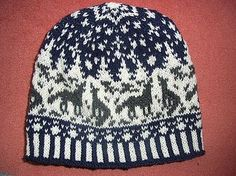 Ravelry: Night wolves beanie pattern by Sandra Jäger