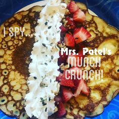 Let's start the day with a deliciously sweet crepe topped with strawberries, whipped cream and #mrspatels Munch Crunch! #lactationrecipes #brunch 📷@tsxrider ......................................... www.mrsmilk.com