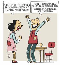 La economía sigue creciendo #Argentina #Viñeta #Humor
