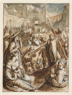 The Road to Calvary - Museum Boijmans Van Beuningen Dutch Golden Age, Grisaille, Dutch Painters, Michelangelo, Delft, Poet, Fresco, Denmark, Printmaking