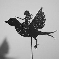 Thumbelina / Laser-cut Shadow Puppet von Isabella's Art auf DaWanda.com
