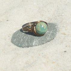Simple Pleasures Ring  serpentine  jasper  stone by MySoulCanDance
