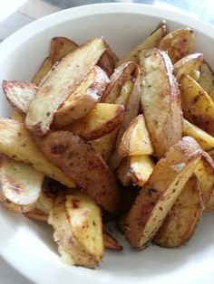 "The BEST Potato Wedges EVER! 5.00 stars, 4 reviews. ""made some today!"" @allthecooks #recipe #potatoes #side #potato #easy #appetizer"