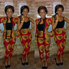 Ankara print pants suits