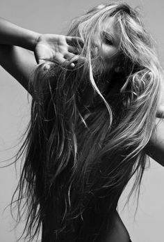 long and messy hair