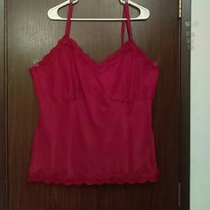 Sleep top Red, silky Gloria Vanderbilt Intimates & Sleepwear Chemises & Slips