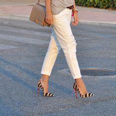 """BOY Chanel & Animal print SoKate shoes are one of my favorite combos!!  #boychanel #christianlouboutin #redsoles #louboutinworld #sokate #chanel…"""