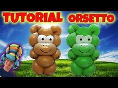 PALLONCINI MODELLABILI tutorial 34 ORSETTO - ORSO - YouTube