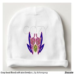 Cozy head floral #soft #nice lovely comfortable kids baby beanie