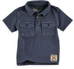 Garment Washed Polo Shirt on shopstyle.com