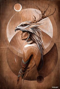 Equanimity - Artwork by Hans Walor - Walør - VALØR One of our favorite artists, this piece blesses up our Pinecone workshop Wiccan Decor, Native American Paintings, Native American Tattoos, Spiritual Paintings, Spirited Art, Desenho Tattoo, Indigenous Art, Visionary Art, Native Art