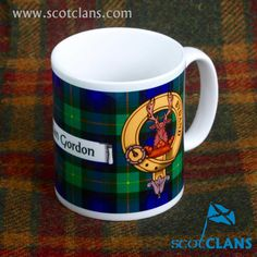 Gordon Clan Crest and Tartan Mug