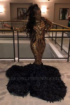 Babyonlinewholesale offers Golden Metallic Sequined Black High neck Mermaid Prom Dress with Fur at a cheap price from Sequined to Mermaid Floor-length them. Stunning yet affordable Long Sleeves Prom Dresses. Prom Dresses Long With Sleeves, Mermaid Prom Dresses, Prom Party Dresses, Party Gowns, Cheap Prom Dresses Online, Cheap Evening Dresses, Elegant Dresses, Perfect Wedding Dress, Cheap Wedding Dress