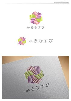 "Japanese jewelry company logo. The company name means ""colored knot"". Used a Japanese flower knot motif and picked color palette from Japanese traditional colors."