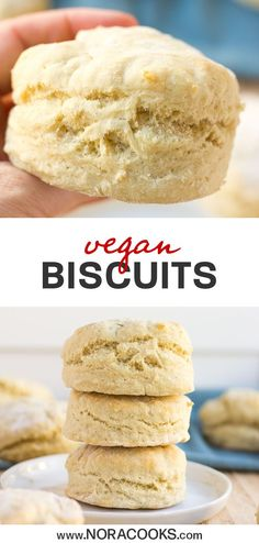 Easy Vegan Biscuits are so fluffy, require only 30 minutes, 1 bowl and 7 ingredients! Easy Vegan Biscuits are so fluffy, require only 30 minutes, 1 bowl and 7 ingredients! Biscuits Végétaliens, Vegan Biscuits, Dessert Biscuits, Dairy Free Biscuits, Tea Recipes, Dairy Free Recipes, Whole Food Recipes, Gluten Free, Dairy Free Baking