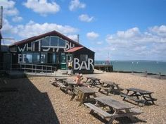View from the Lobster Shack, Whitstable. Top lunch spot.