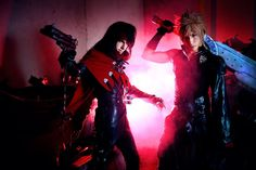 amazing Cloud Strife and Vincent Valentine cosplay